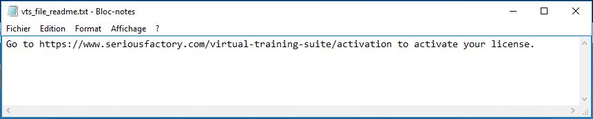 Activation Readme file
